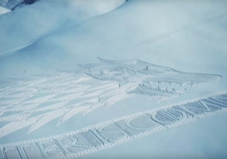 Snow Art : L'immense promo de Game of Thrones dans les Alpes