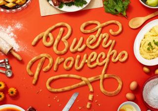 Typographie - Une campagne réalisée avec de la nourriture
