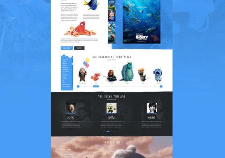 [UI Design] Un concept pour le site Pixar 6