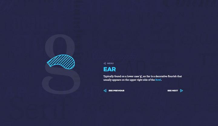 ear typography olybop