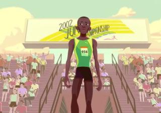 Motion Design : L'histoire d'Usain Bolt en animation 1