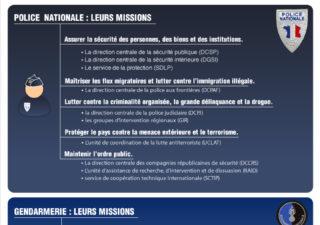 Infographie : Mieux comprendre les forces de l'ordre françaises : Chiffres et missions 1
