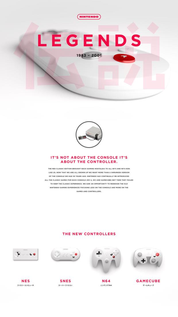 Redesign et concept UI/UX des manettes Nintendo 3