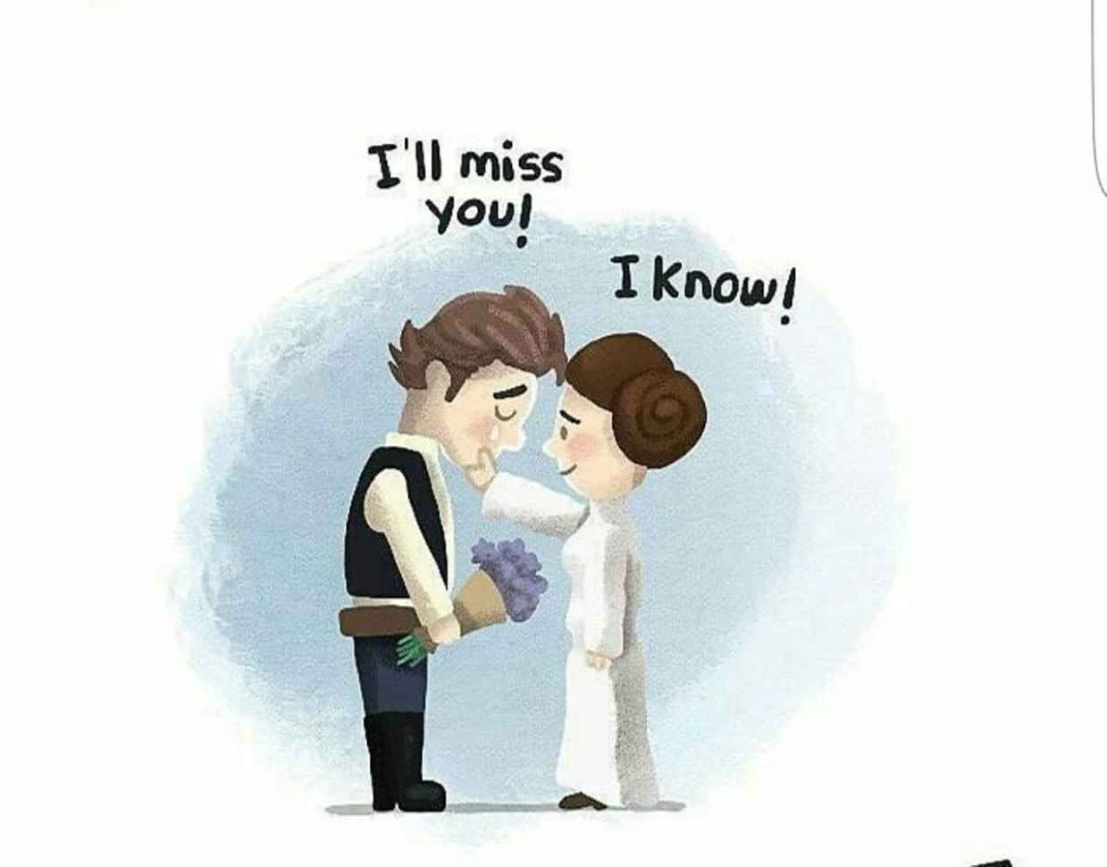 Les hommages en illustrations de Carry Fisher ou Princesse Leia dans StarWars 7