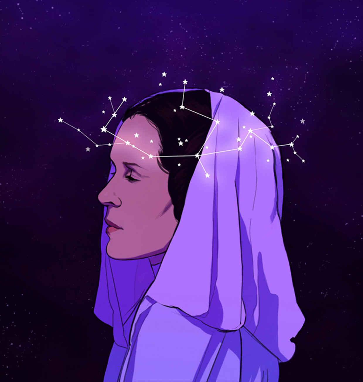Les hommages en illustrations de Carry Fisher ou Princesse Leia dans StarWars 15