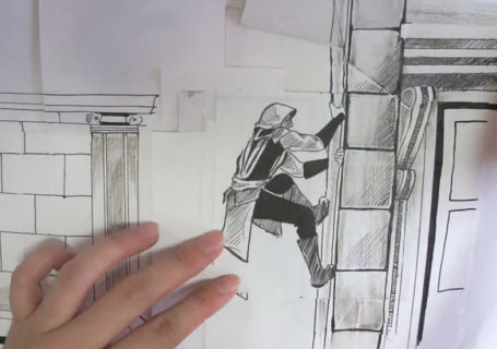 [Stop-motion] Assassin's Creed en dessin et papier 4