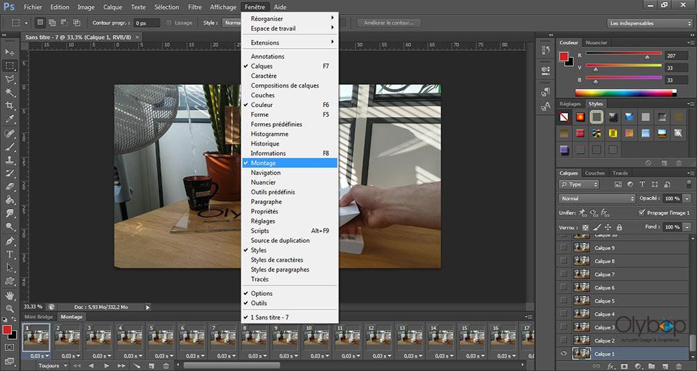 Comment réaliser un Cinémagraph avec photoshop ? 5