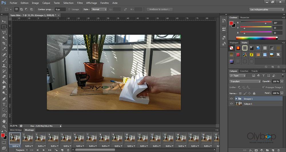 Comment réaliser un Cinémagraph avec photoshop ? 7
