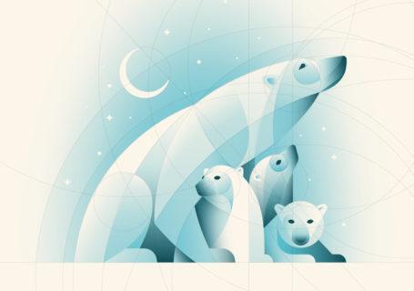 [Tuto] Comment réaliser une illustration d'ours polaires sous illustrator ? 2