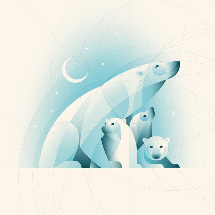 [Tuto] Comment réaliser une illustration d'ours polaires sous illustrator ? 3