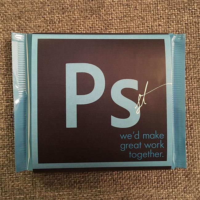 Postulez avec des chocolats Adobe Illustrator, Photoshop et InDesign 3