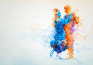 [Vidéo] L'effet de l'encre colorée dans l'eau - Campagne sensibilisation à Parkinson 1