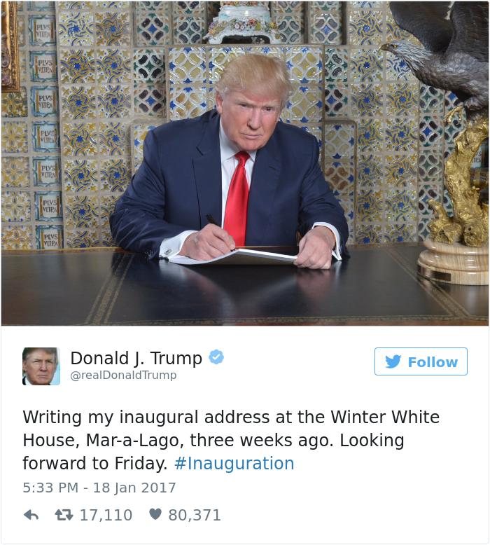 Les meilleurs détournements de la photo de Trump en train d'écrire 11