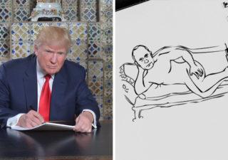 Les meilleurs détournements de la photo de Trump en train d'écrire