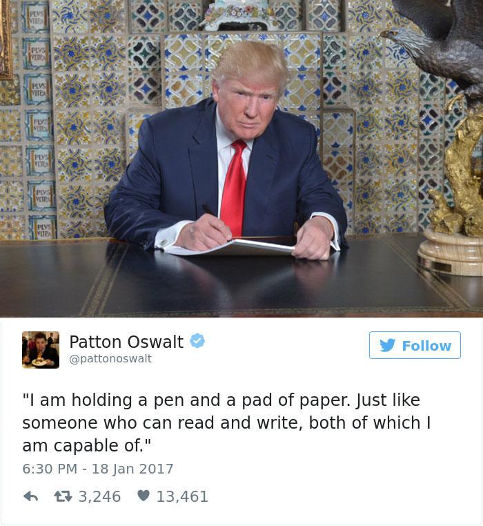 Les meilleurs détournements de la photo de Trump en train d'écrire 4