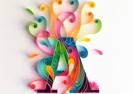 Illustrations : Typographie en sculpture sur papier 9