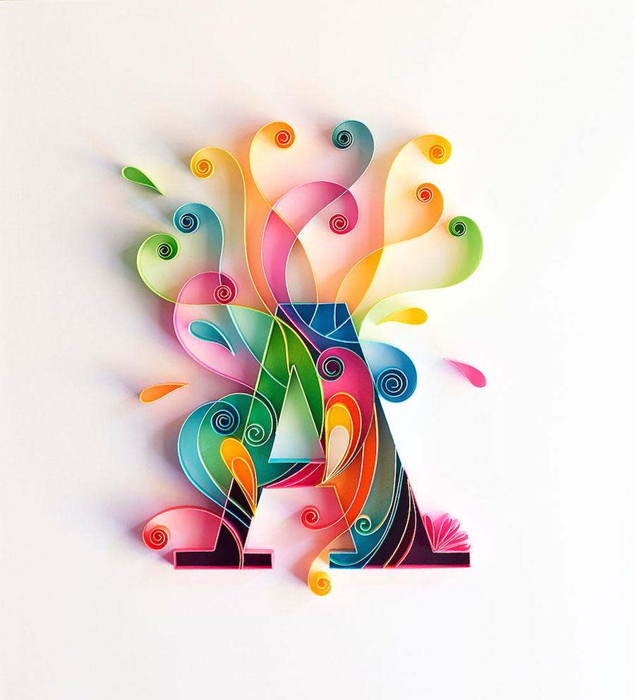 Illustrations : Typographie en sculpture sur papier 2