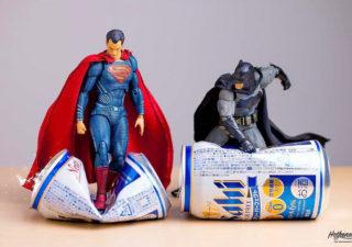 Photographies : Des figurines de super-héros en action