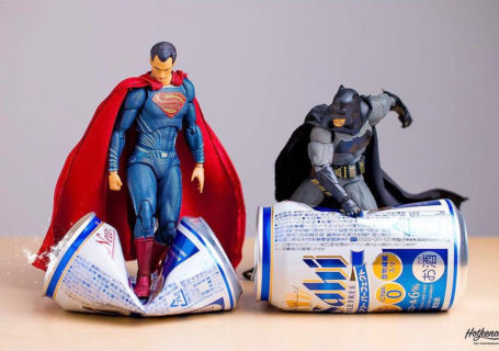 Photographies : Des figurines de super-héros en action 5