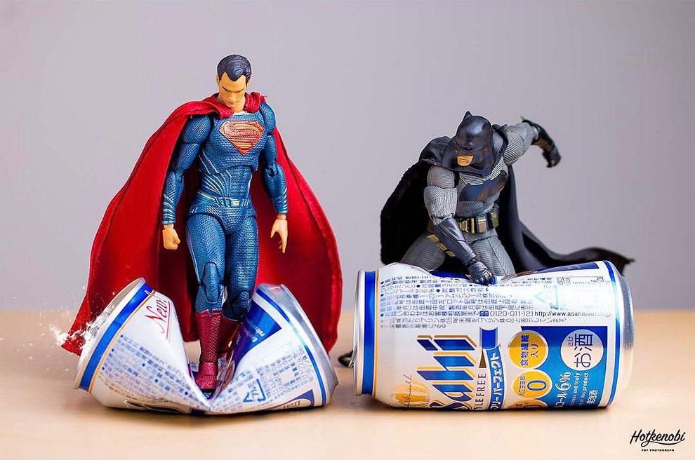 Photographies : Des figurines de super-héros en action 2