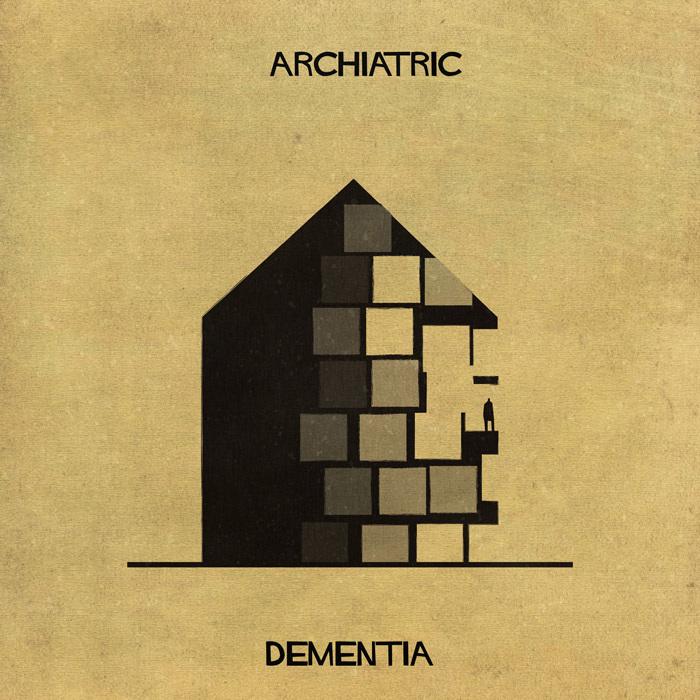 Illustrations : Maladies mentales expliquées grâce à l'architecture 3