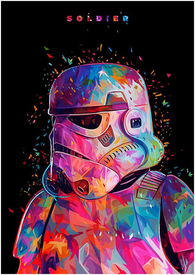 Illustrations lowpoly : Les portraits Star Wars prennent de la couleur 3