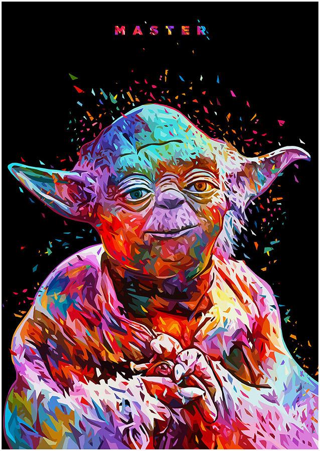 Illustrations lowpoly : Les portraits Star Wars prennent de la couleur 4