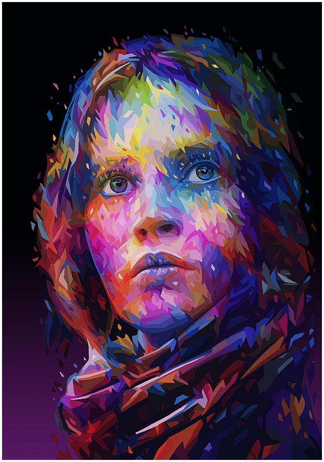 Illustrations lowpoly : Les portraits Star Wars prennent de la couleur 10