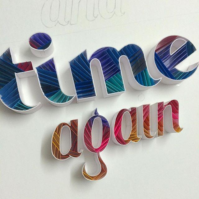 Illustrations : Typographie en sculpture sur papier 5
