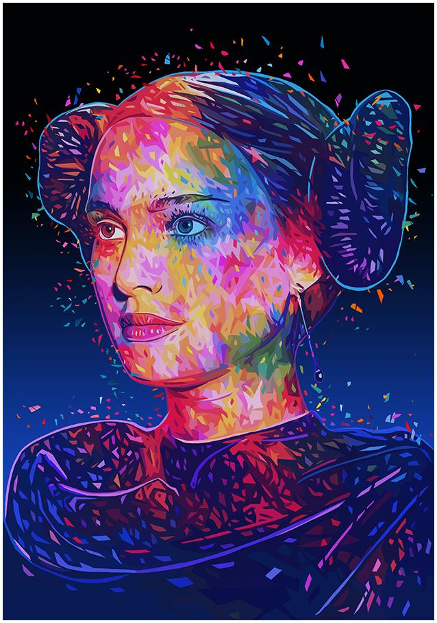 Illustrations lowpoly : Les portraits Star Wars prennent de la couleur 11