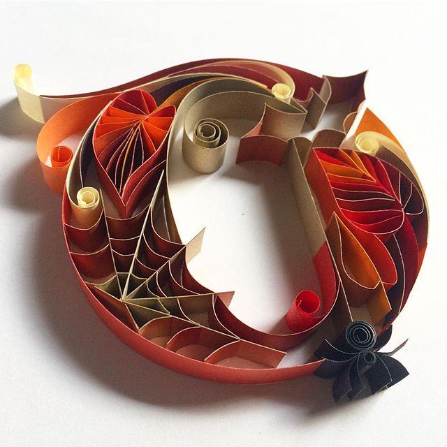 Illustrations : Typographie en sculpture sur papier 6