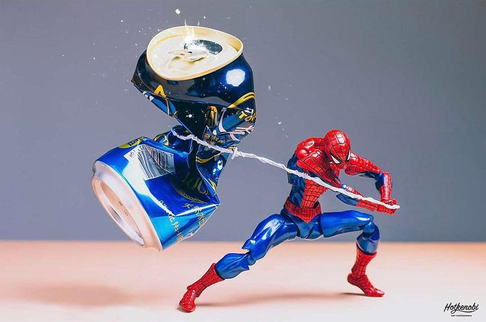 Photographies : Des figurines de super-héros en action 6