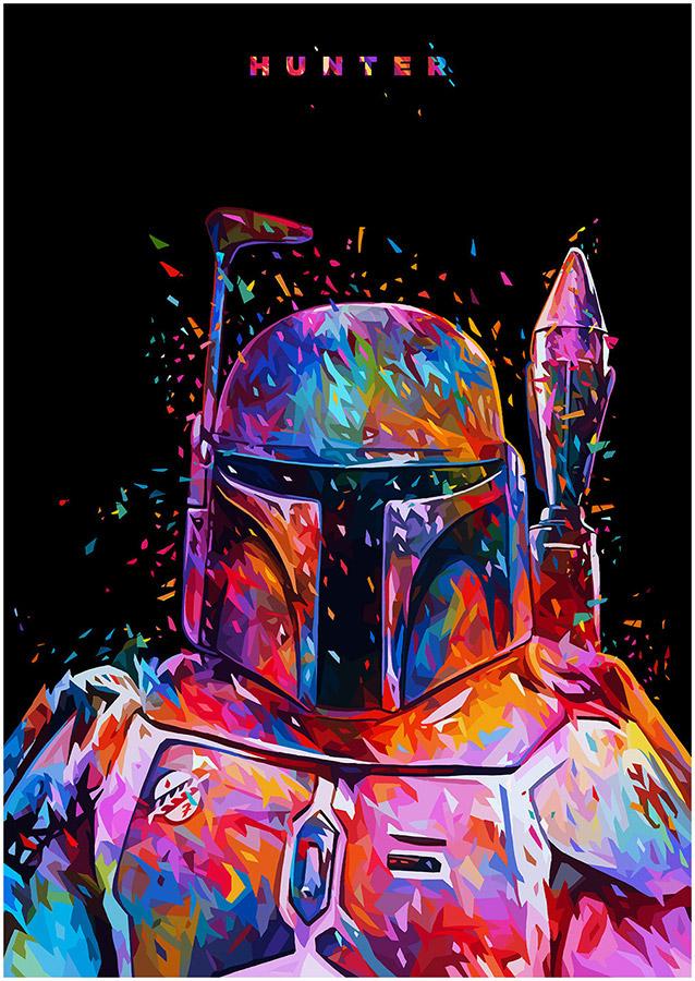 Illustrations lowpoly : Les portraits Star Wars prennent de la couleur 6