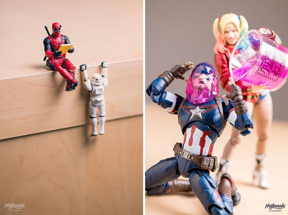 Photographies : Des figurines de super-héros en action 7