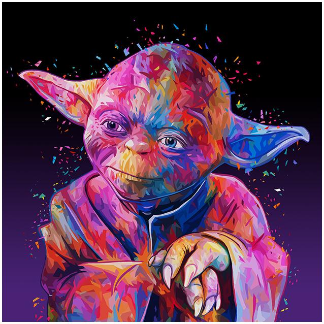 Illustrations lowpoly : Les portraits Star Wars prennent de la couleur 13