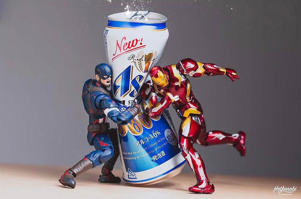 Photographies : Des figurines de super-héros en action 8