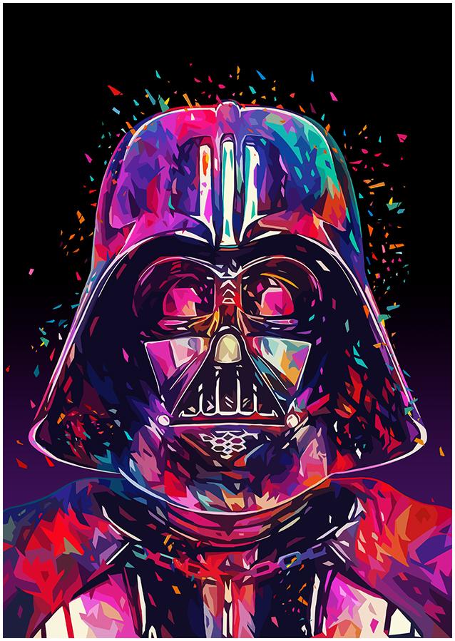 Illustrations lowpoly : Les portraits Star Wars prennent de la couleur 14