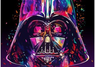 Illustrations lowpoly : Les portraits Star Wars prennent de la couleur 1