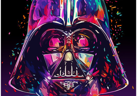 Illustrations lowpoly : Les portraits Star Wars prennent de la couleur 1