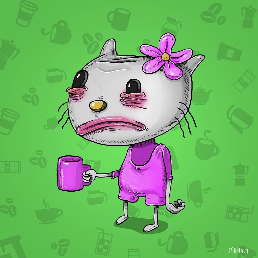 Illustrations : Les personnages de dessins animés avant leur café 8