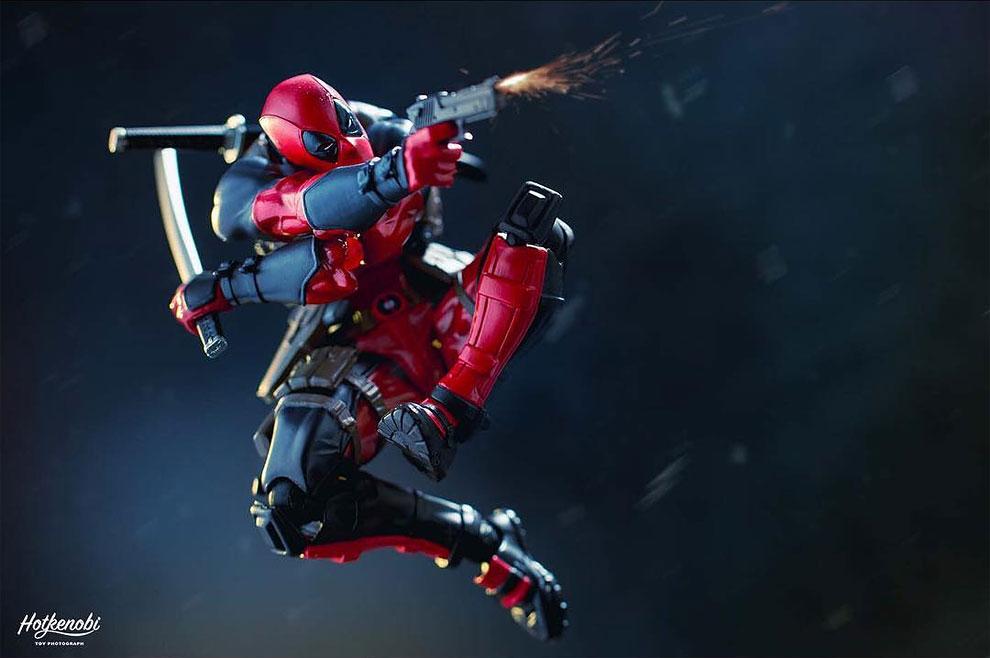 Photographies : Des figurines de super-héros en action 9