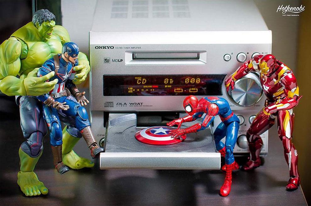 Photographies : Des figurines de super-héros en action 10