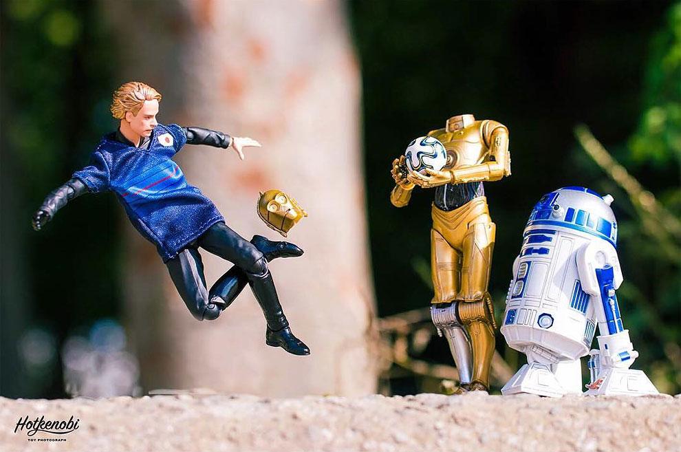 Photographies : Des figurines de super-héros en action 11