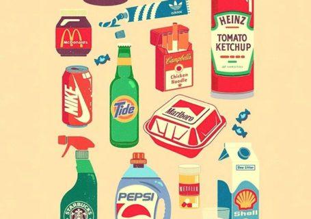 Illustrations : quand les marques et les logos se mélangent 5