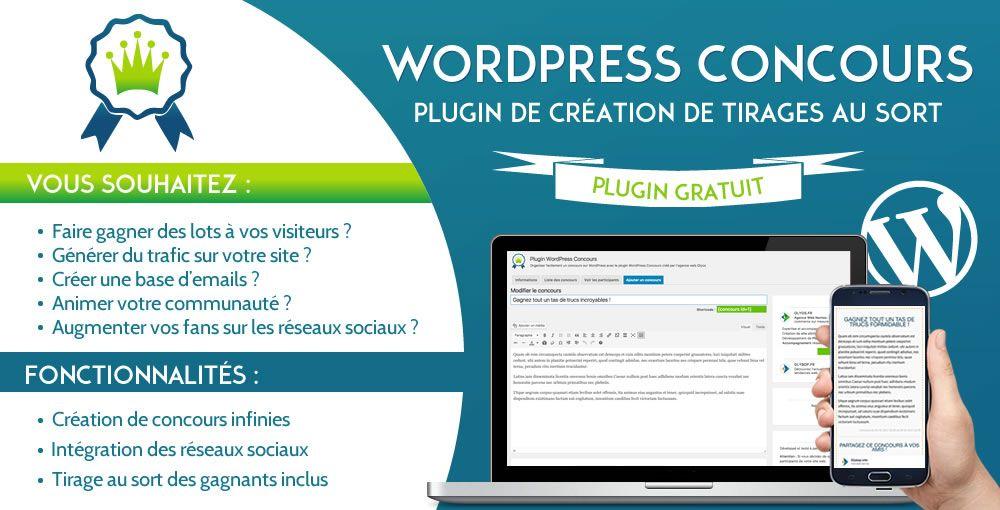 Plugin Wordpress Concours : Créer des concours sur votre blog gratuitement ! 2