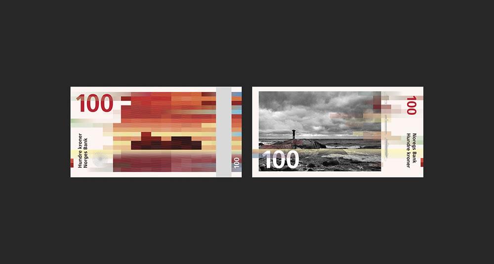 Billets de 100 - banques de Norvège 2017