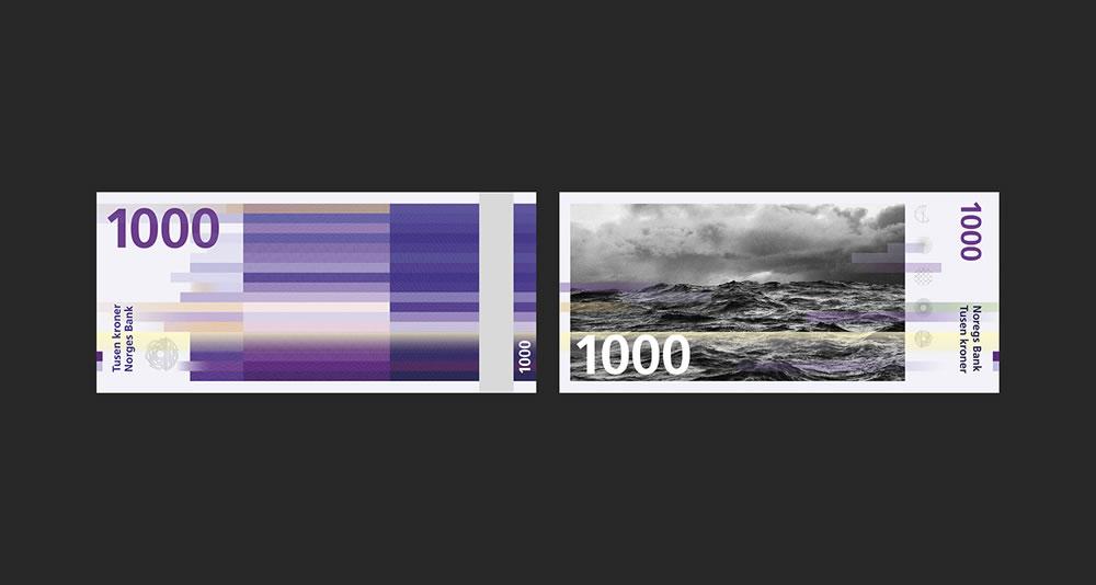 Billets de 1000 - banque de Norvège 2017