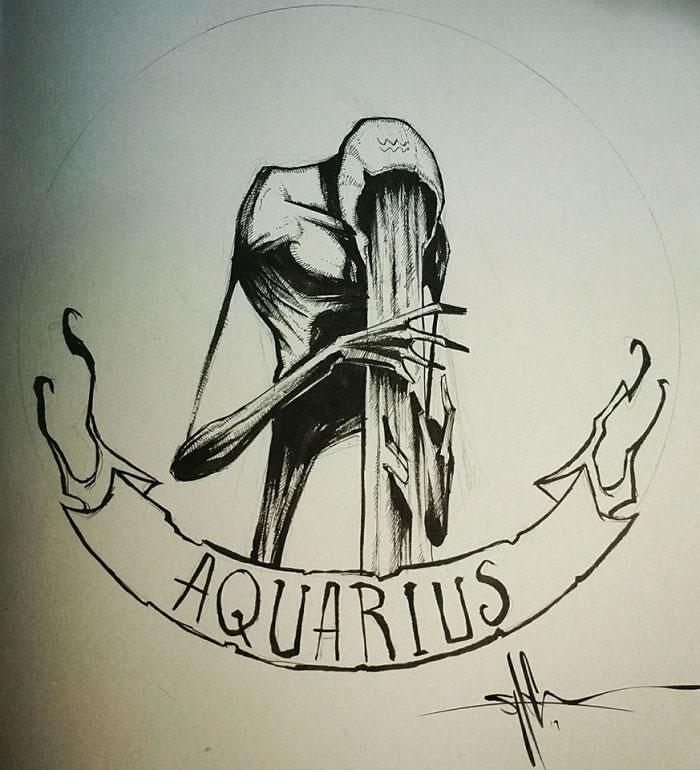 "Illustrations - Les Signes du zodiaque version ""Dark"" par Shawn Coss 13"