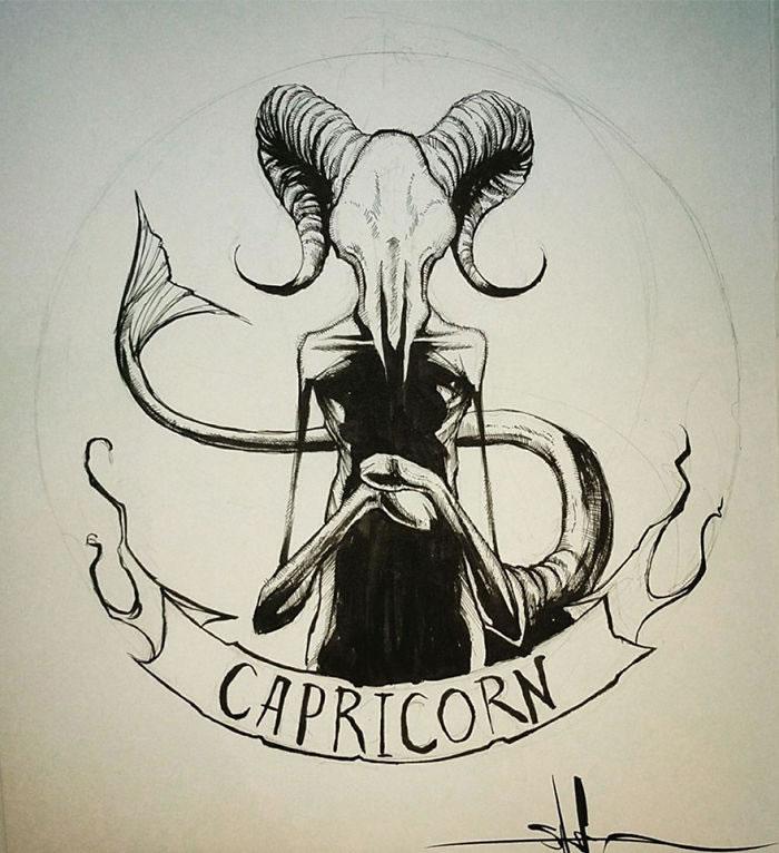 "Illustrations - Les Signes du zodiaque version ""Dark"" par Shawn Coss 3"