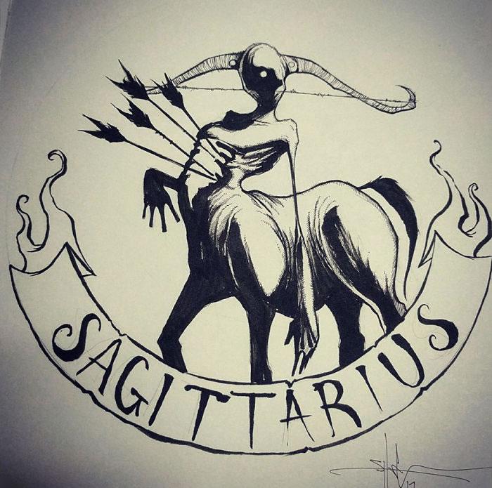 "Illustrations - Les Signes du zodiaque version ""Dark"" par Shawn Coss 5"